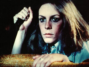 Actress Jamie Lee Curtis starred in John Carpenter's 1978 horror film classic Halloween.