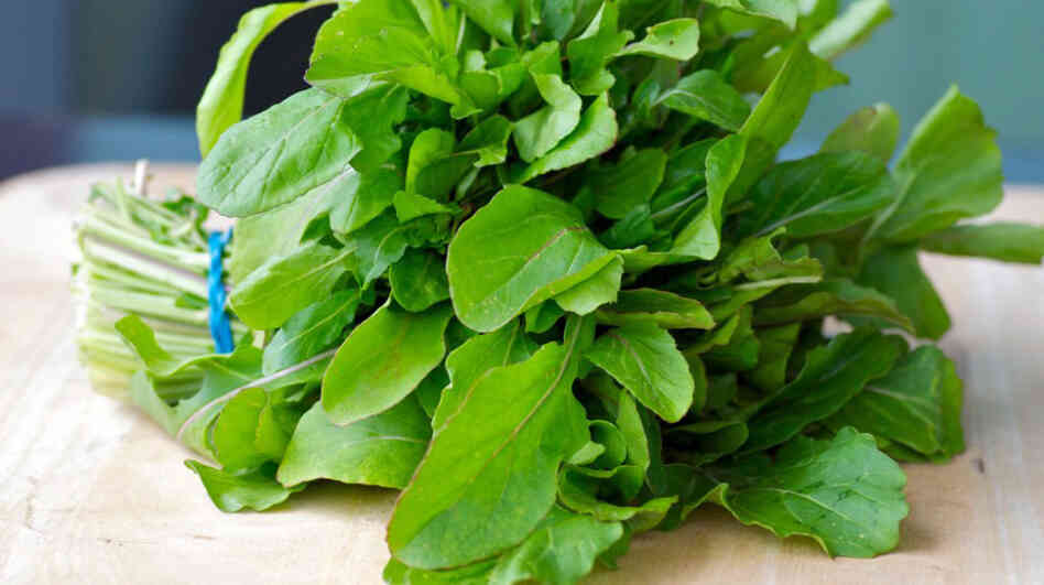 A bunch of arugula