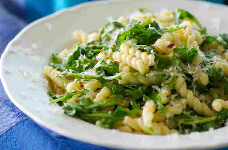 Creamy Mascarpone Cheese And Wild Arugula Pasta