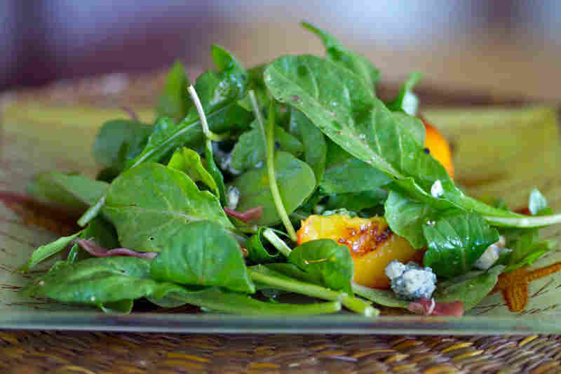 Grilled Nectarine, Arugula And Prosciutto Salad