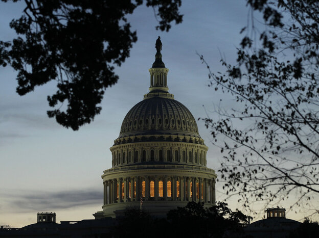 The U.S. Capitol dome in twilight might be a fitting metaphor for where action on the debt-ceiling now stands.