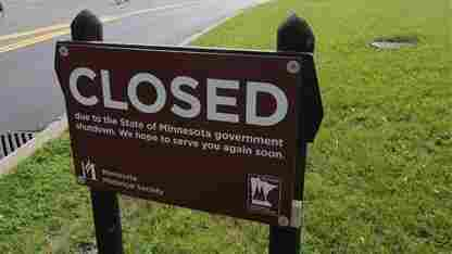 Fort Snelling historic site in Minneapolis has been closed by the state government shutdown.