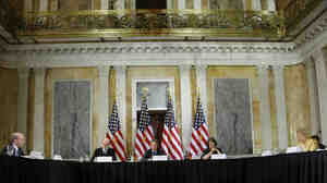 Federal Reserve Chairman Ben Bernanke (from left), Treasury Secretary Timothy Geithner and FDIC Chairwoman Sheila Bair host the first meeting of the Financial Stability Oversight Council last October.