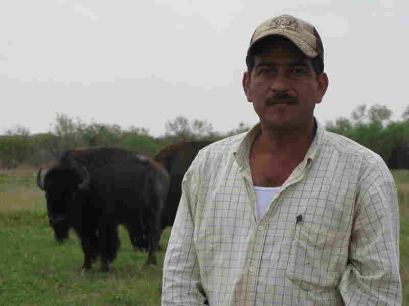 Freddy Longoria is a foreman on a South Texas ranch. He says he hears a lot of stories about spillover border violence that make him worried.