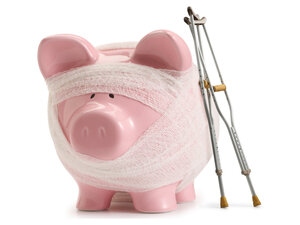 A piggybank with pre-existing conditions.