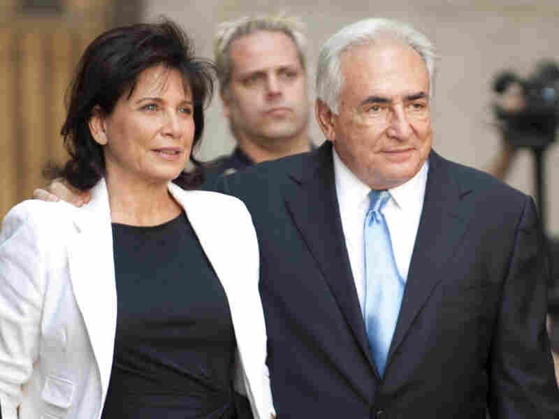 Here Strauss-Kahn exudes respectability as he leaves New York State Supreme Court with his wife Anne Sinclair on July 1, 2011, after being freed on bail.