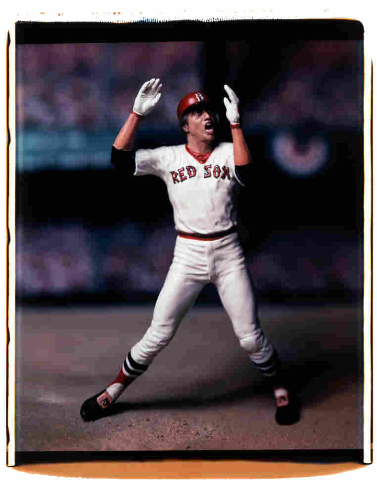 Carlton  Fisk, Boston Red  Sox, from the 1975 World Series.