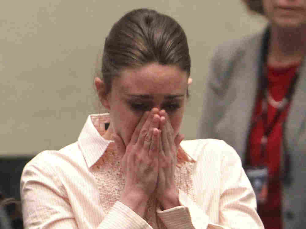 Casey Anthony reacts Tuesday after  being acquitted for the murder of her daughter, Caylee. Much of the nation was  riveted to the widely televised trial, which took place over a month and a half  in Orange County, Florida.