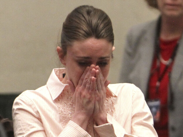 Casey Anthony reacts Tuesday after  being acquitted for the murder of her daughter, Caylee. Much of the nation was  riveted to the widely televis