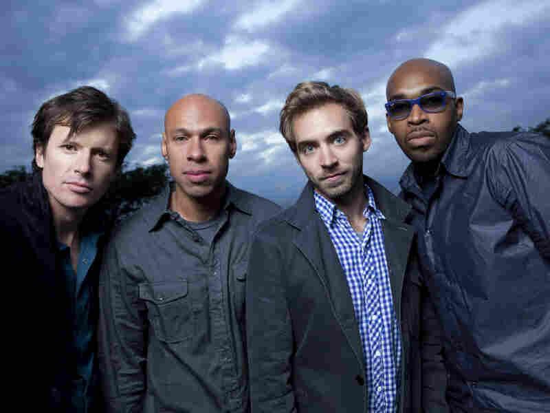 James Farm combines the talents of four in-demand jazz musicians: Matt Penman (from left), Joshua Redman, Aaron Parks, Eric Harland.