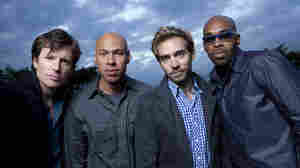 James Farm combines the talents of four in-demand jazz musicians: Matt Penman (from left), Joshua Redman, Aaron Parks, Eric Harland.