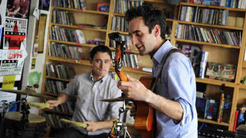 Julian Lage performs a Tiny Desk Concert at the NPR Music offices.