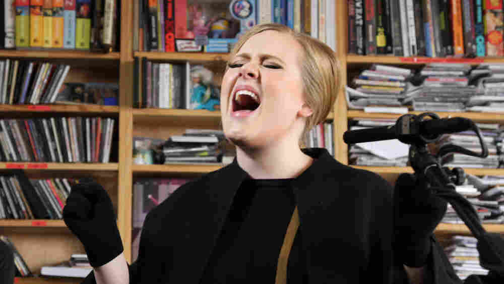 Adele, who has the year's top selling album so far, performs at NPR.