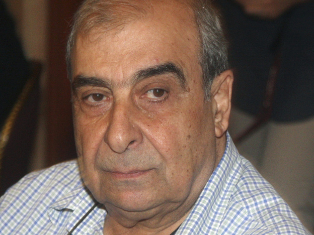 Prominent Syrian writer and dissident Michel Kilo attends an opposition meeting in Damascus on June 27.