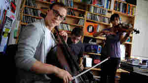 Ben Sollee and his band perform at NPR headquarters in Washington, DC for a Tiny Desk Concert on Monday, May 16, 2011.