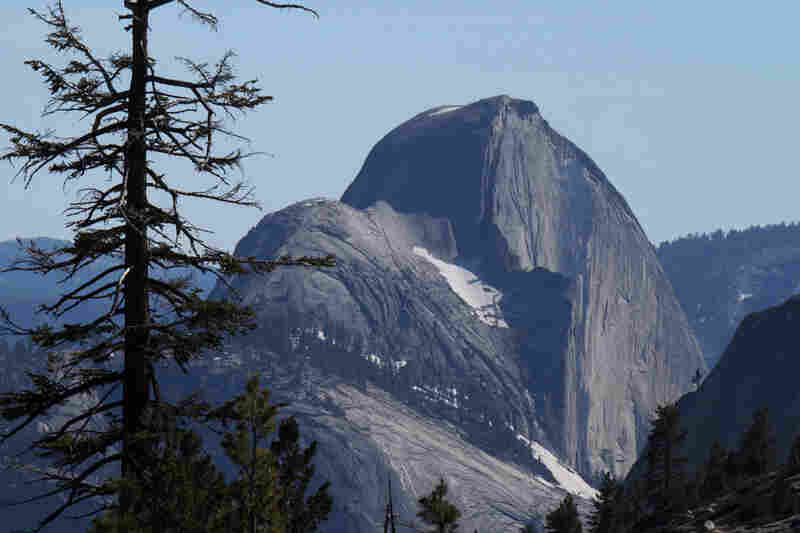 A view of Half Dome from Olmsted Point, from Yosemite's east entry.