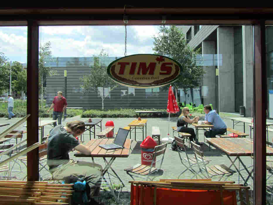 Canadian native Tam Eastley says Tim's Canadian Deli is reminiscent of Tim Hortons, Canada's famous and coffee chain.