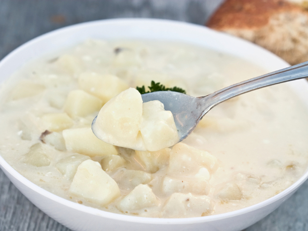 If your potato soup came from a bulging, unrefrigerated container, don't even taste it. (iStockphoto.com)