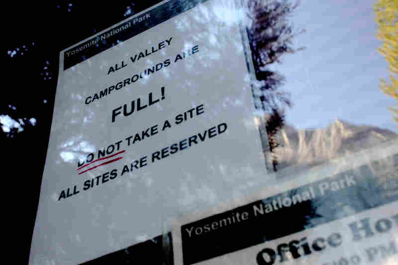 "During the summer months, visitors can expect to see a sign that reads ""full"" on all of the Yosemite Valley campgrounds."