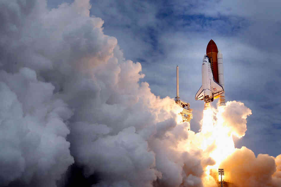 The space shuttle Atlantis lifts off from the Kennedy Space Center in Cape Canaveral, Fla. on Friday — the 135th and final space shuttle launch for NASA.