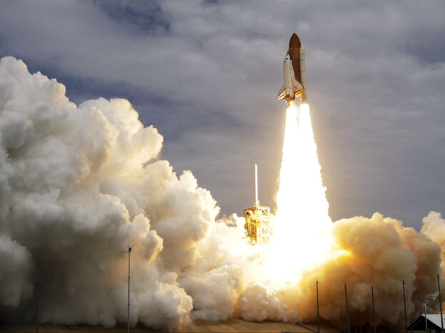 The space shuttle Atlantis lifts off from the Kennedy Space Center Friday, July 8, 2011, in Cape Canaveral, Fla.