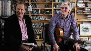 Joe Boyd and Robyn Hitchcock perform a Tiny Desk Concert at the NPR Music offices.