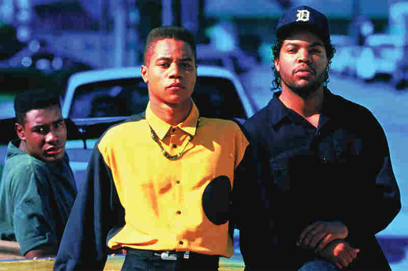 In 1991, when he made Boyz N The Hood, John Singleton was just 22 years old. None of his lead actors – (from left) Morris Chestnut, Cuba Gooding Jr. and Ice Cube – was older than 23. Credit: Sony Pictures Home Entertainment