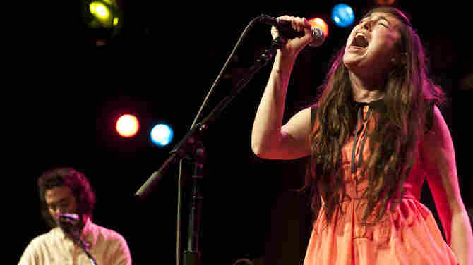 Cults performs at World Cafe Live in Philadelphia.