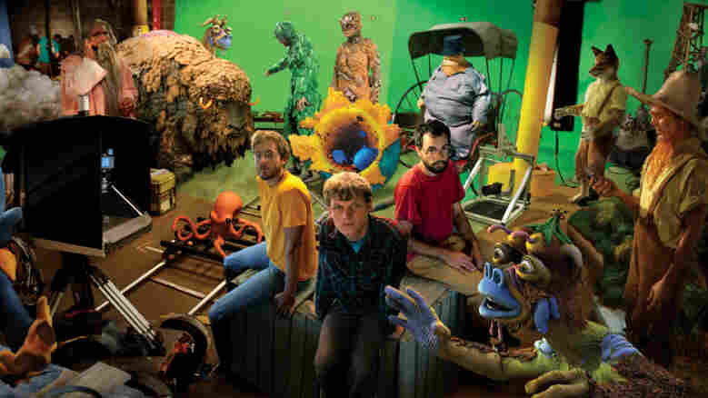Isaiah Saxon (left), Sean Hellfritsch and Daren Rabinovitch began collaborating on films in San Francisco in 2003. Their digital animation company, Encyclopedia Pictura, combines live action, stop-motion and CGI components into a unique visual style.