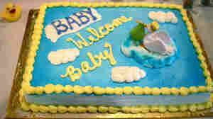 A cake for Lateefah's nameless and gender-unknown baby