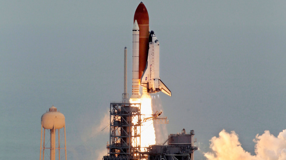 Artifacts from the space shuttle program, and the final mission by Atlantis, are destined for the Smithsonian Air and Space Museum. Here, Atlantis blasts off from Kennedy Space Center for its last mission.