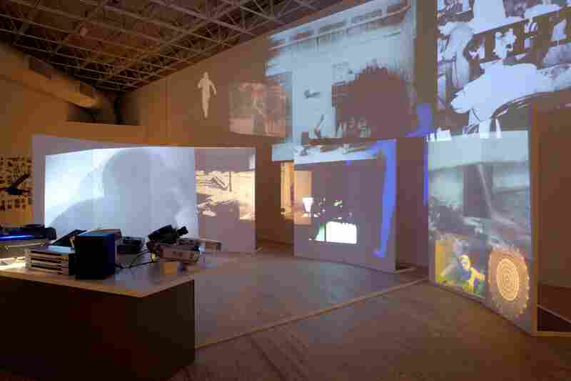 Approximate restaging of VanDerBeek's multimedia installation Movie Mural (1968) at the Contemporary Arts Museum Houston, 2011