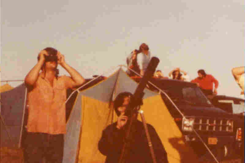 """STS-1, Columbia, April, 1981:""""Twins, Daniel (left) and David watching the first Shuttle launch in the early 80's.  We were 18 then.  I have watched many since then.  I will be at the last launch on the 8th. God Speed!"""""""