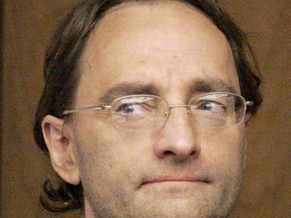 Christian Karl Gerhartsreiter, who masqueraded as a member of the famous Rockefeller family, appears July 8, 2011, in an Alhambra, Calif., court to face charges that he murdered the son of his landlord more than a quarter-century ago. Gerhartsreiter pleaded not guilty. (AP)