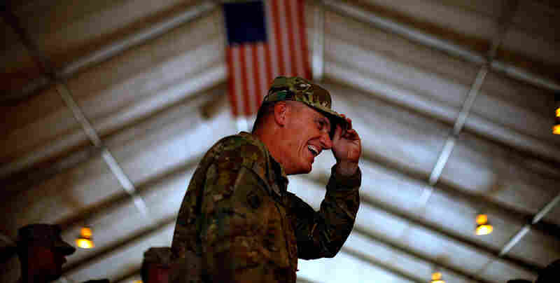 Lt. Gen. David Rodriguez, the No. 2 U.S. officer in Afghanistan, steps down from his post Monday. The commander met last month with U.S. troops in Helmand province.