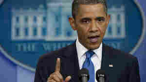 President Obama speaks during a news conference in the Brady Press Briefing Room at the White House.