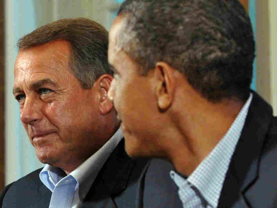 House Speaker John Boehner (R-OH) and President Obama at the White House on Sunday.