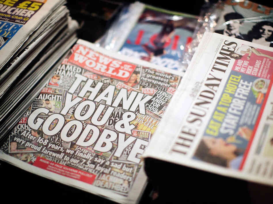 The scandal prompted News International to fold News of the World. Sunday's issue was the 168