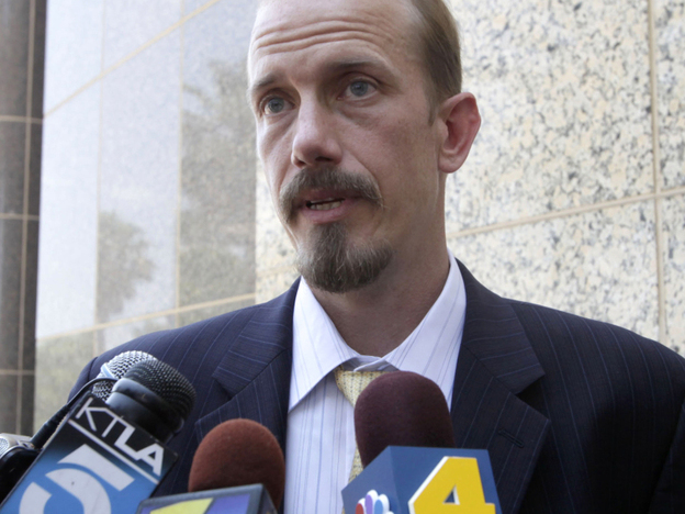 Scott Wippert, attorney for murder defendant  Brandon McInerney, speaks to media outside a California court. McInerney, 17, is being tried as an adult for the February 2008 slaying of 15-year-old Larry King.