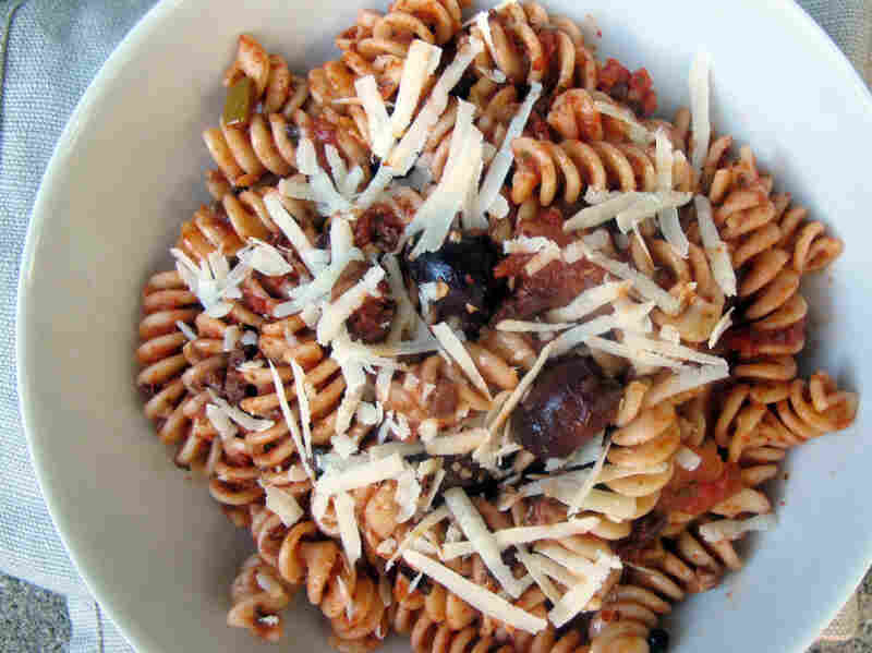 Fusilli With Fresh Herbs And Chopped Olives