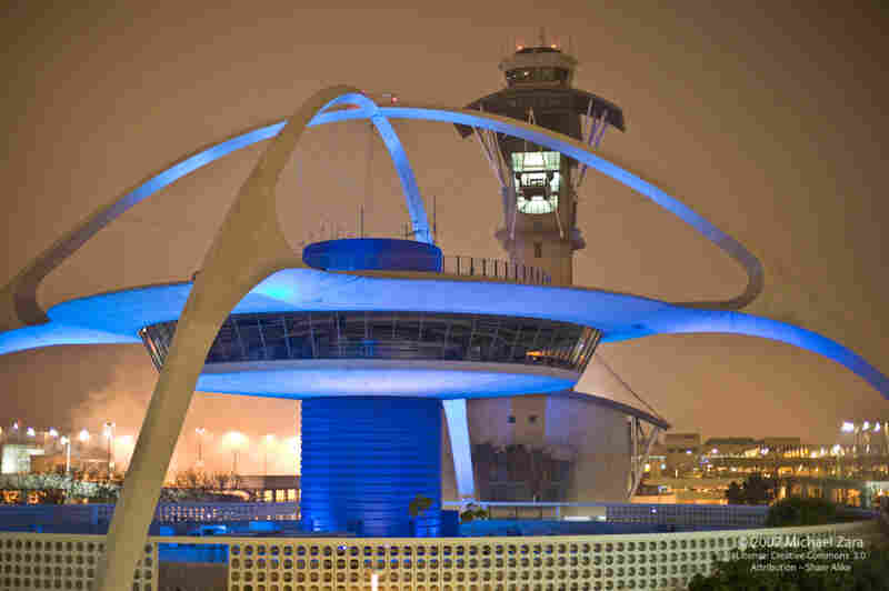 Ready For Take-Off: The Theme Building at the Los Angeles International Airport opened in 1961. The futuristic landmark was designed by William Pereira and Charles Luckman.