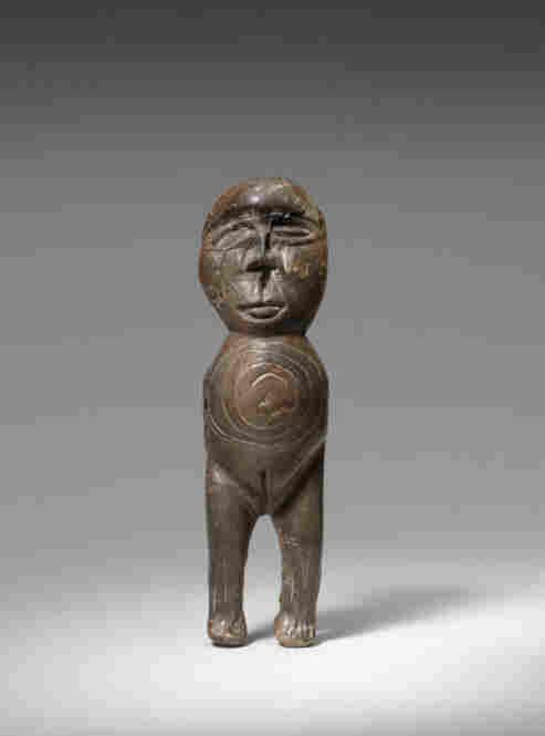 Female figure, Okvik, walrus ivory, Old Bering Sea, c 200 BC