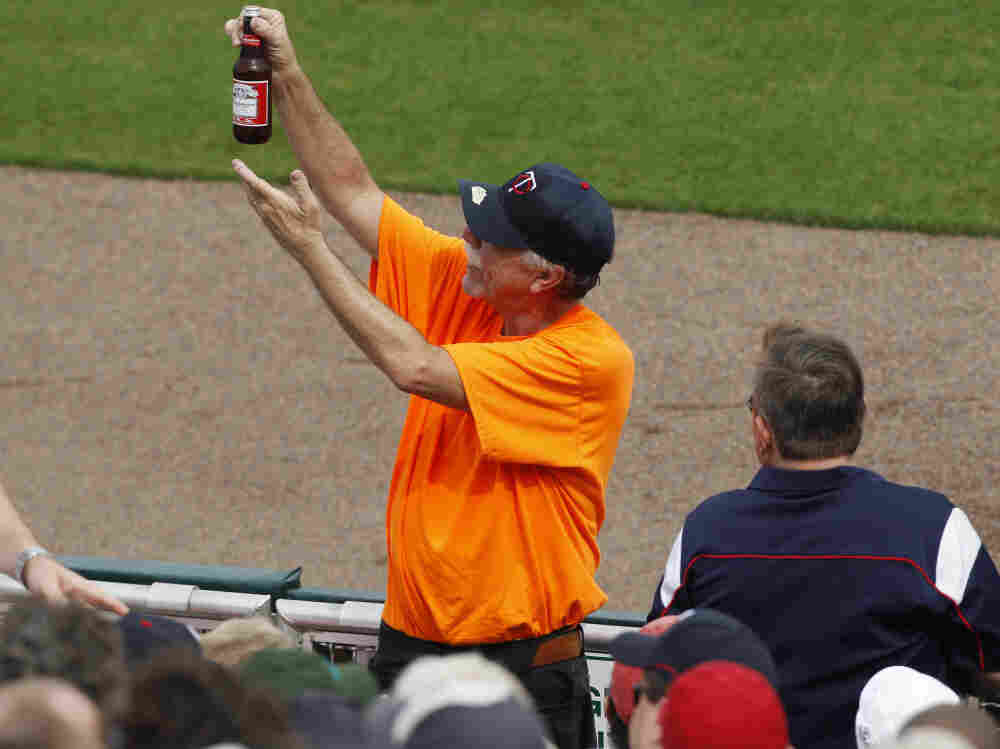 Behold, The State's Final Beer? A vendor hawks his wares at a Minnesota Twins spring training game against the Orioles. Let's just say that beer and hyperbole are not strangers.