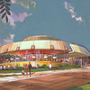 "Unidentified Fashion Object: A 1963 rendering shows the design for Biff's Coffee Shop in Oakland, Calif. ""It almost looked like a flying saucer,"" says Victor Newlove of Armet Davis Newlove Architects. ""It looks like it's about ready to lift off."""