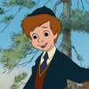 Christopher Robin, still six years old in the new film Winnie The Pooh.