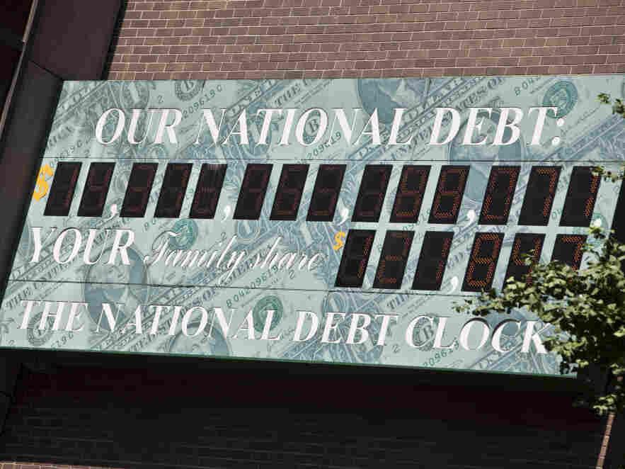National Debt Clock billboard in Midtown Manhattan, July 11, 2011.