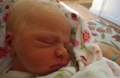 Finnley James Crossman-King was born July 3. Read Sarah's account of how he came into the world.