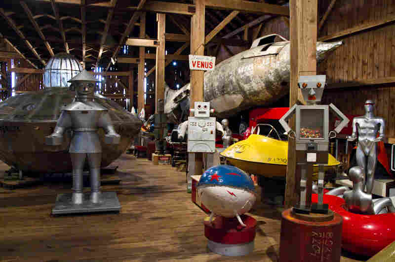 John and Peter Kleeman collect space age kitsch in an old hay barn in Connecticut. You can explore their collection on their website.