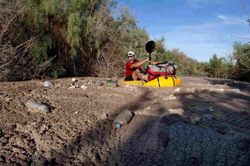 Jon Waterman, who paddled the entire 1,450 miles of the Colorado, comes to the river's unnatural end, two miles into Mexico, trapped in a pool of plastic, fertilizers and mud. (He completed the journey on foot.) By the time the Colorado River reaches its delta, its water has been reused eight times.