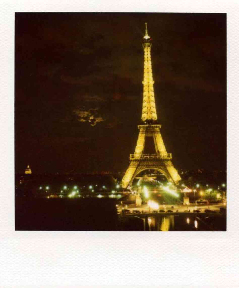 A Polaroid of the Eiffel Tower celebrates Bastille Day and Polaroid Week.
